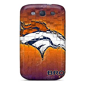 Shock Absorbent Hard Cell-phone Cases For Samsung Galaxy S3 (UCQ356BINF) Support Personal Customs High Resolution Denver Broncos Series