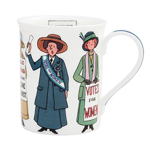 Alison Gardiner Famous Illustrator - Suffragette Votes for Women Vote 100 Commemorative Fine Bone China Coffee Cup and Tea Mug - Premium Quality and ()