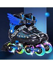 Verstelbare Rolschaatsen, Inlineskates Zijn Beschikbaar Voor Zowel Mannen Als Vrouwen, Met Abec-7 Pu Flash Wheel,Blue-XL