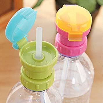 Portable Spill-proof Drink Bottle Spout Cover Children Drinking Straw Cover