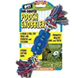 Pet Buddies Pooch Gnobbler Fun Shaped Toy w/Cotton Rope, My Pet Supplies