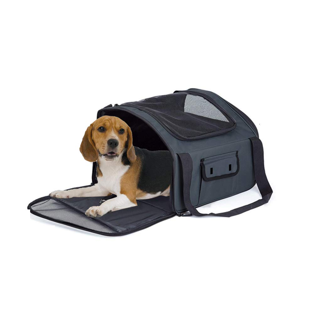 Katevo Soft-Sided Pet Carrier Mesh Bag Backpack Small Dog Cat Kittens Puppies for Hiking Travel Camping Outdoor