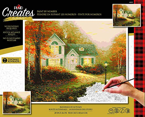 "Plaid Enterprises, Inc. 44603 The Blessing of Autumn Paint by Number Kit, 16""X20"", Multi - $30.99"