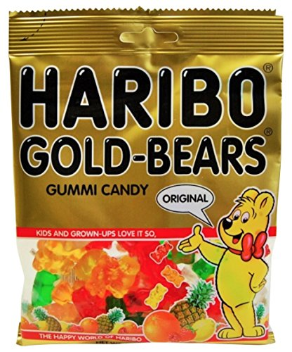 : Haribo Gummi Candy, Original Gold-Bears, 5-Ounce Bags (Pack of 12)