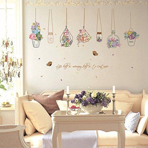 yufeng DiIY extraíble PVC calcomanía de Pared Decoración Flor Princesa de hadas mariposa bailando niñas, Sweet Romance...