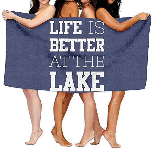 KAYERDELLE Unisex Life Is Better At The Lake Beach Towels Washcloths Bath Towels For Teen Girls Adults Travel Towel Pool And Gym Use 31x51 Inches from KAYERDELLE