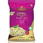 CROWN Opal Super Basmati Rice – Long Grain (Pulao & Zeera Rice), 5Kg