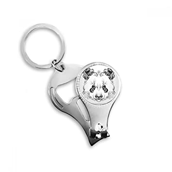 Peluche gigante oso panda animal Retrato Anillo de metal ...