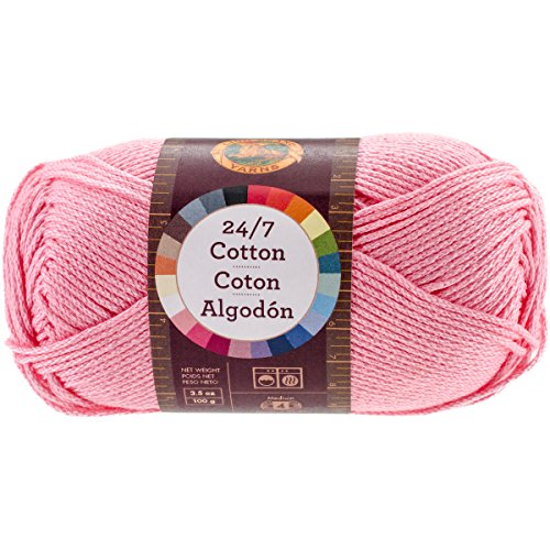 Lion Brand Yarn 761-101 24-7 Cotton Yarn, Pink - Lion Brand Cotton Yarn