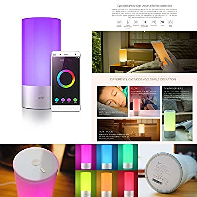 Xiaomi Yeelight Bluetooth BedSide Light LED Dimmable Emotional Mood Lamp Wake-Up 16 Million Color Changing Touch Night Light Phone-Control