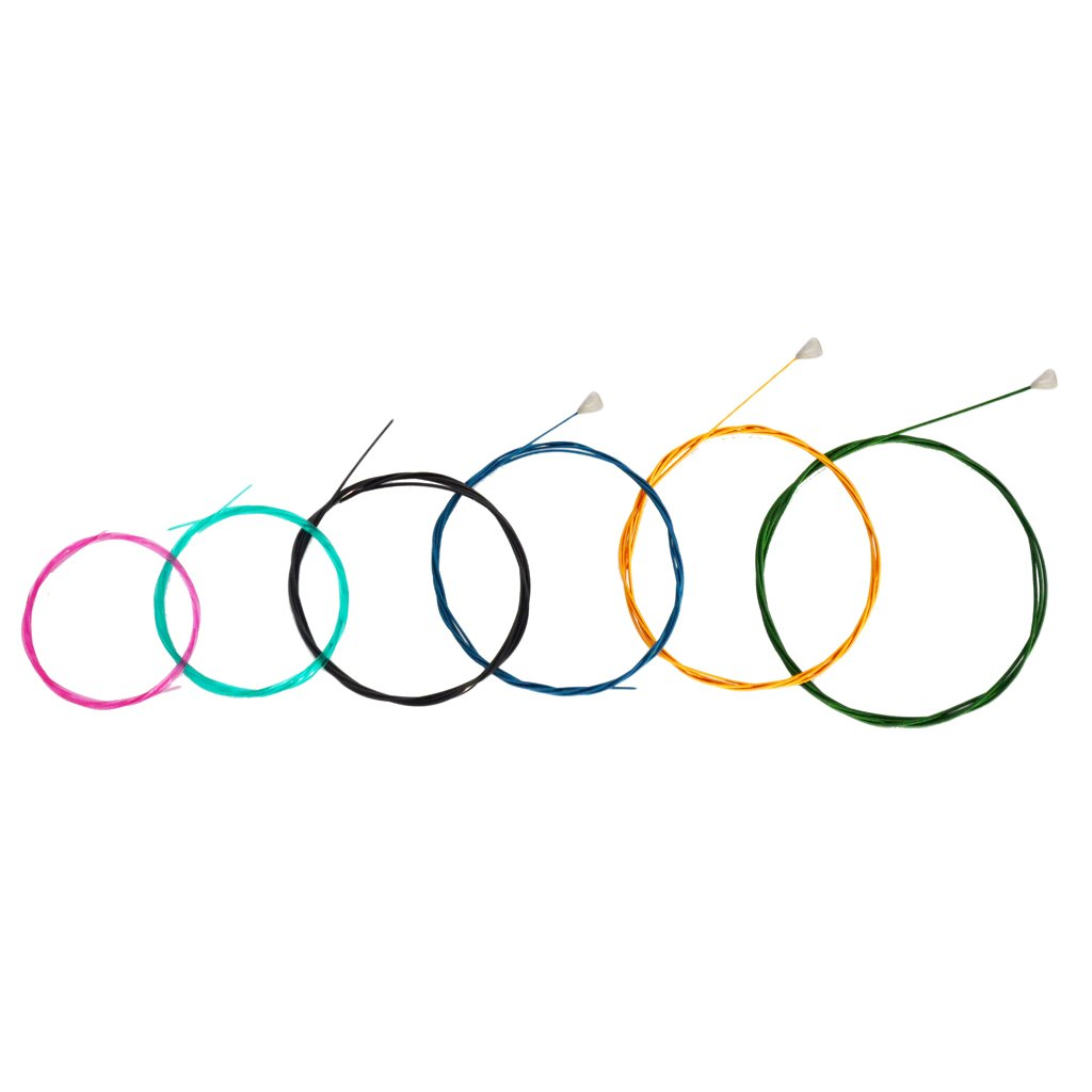 Baoblaze Multi Colored Nylon Classical Guitar Replacement Strings Set 6 String Guitar Parts