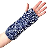 My Recovers Arm Cast Cover Protector, Fashion Cover in Navy Blue Paisley for Short Arm Cast Or Wrist Brace, Made in USA, Orthopedic Products Accessories (XS)