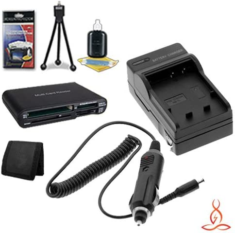 Halcyon Brand 600 mAH Charger with Car Charger Attachment Kit SDHC Card USB Reader Deluxe Starter Kit for Canon PowerShot SX500 is 16.0 MP Digital Camera and Canon NB-6L Memory Card Wallet