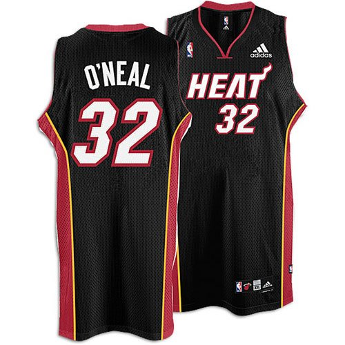 Heat - adidas Men's NBA Swingman Road Jersey - O'Neal, Shaquille ( sz. XL, Black : O'Neal, Shaquille : Heat )
