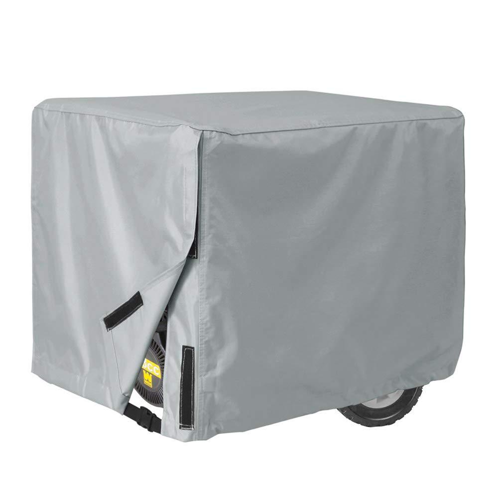 YOUDAN 100% Waterproof Universal Generator Cover 32 x 24 x 24 inch, for Most Generators 5000-10000 Watt, Gray,C,38''x30''x28''