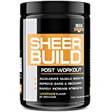 Sheer BUILD Post Workout Supplement - Build Muscle Fast with BCAAs, Creatine Monohydrate, Glutamine, and L-Carnitine, 498 Grams, 30 Day Supply