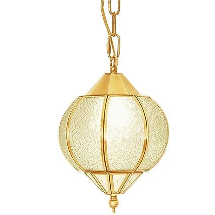 Shubiao Lámpara de Techo Lámpara de araña esférica de Cobre ...