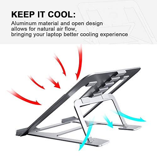 Ming Haidi Laptop Stand,Update Version 6-Level Adjustable Laptop Stand Aluminum Ventilated Laptop Holder,Portable & Foldable Laptop Stand,Laptop Holder Compatible with 7 inch to 15 inch Laptop Photo #7