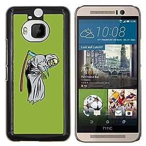 "Be-Star Único Patrón Plástico Duro Fundas Cover Cubre Hard Case Cover Para HTC One M9+ / M9 Plus (Not M9) ( Guadaña de la Muerte Divertido Reaper Grim Verde"" )"