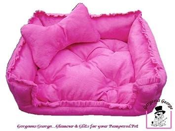 Amazon.com: Gorgeous funda rosa cama perro cesta cachorro ...