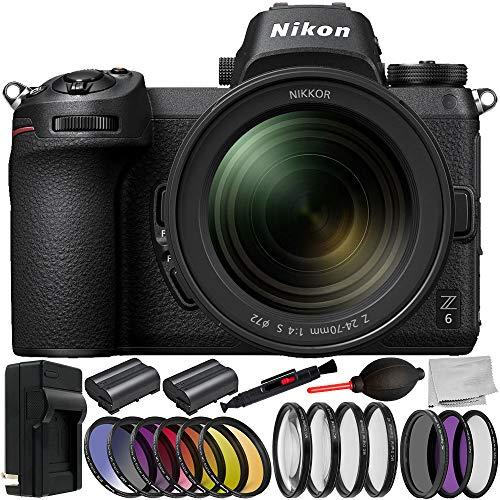 Nikon Z6 Mirrorless Digital Camera 24-70mm Lens 10PCKit - In