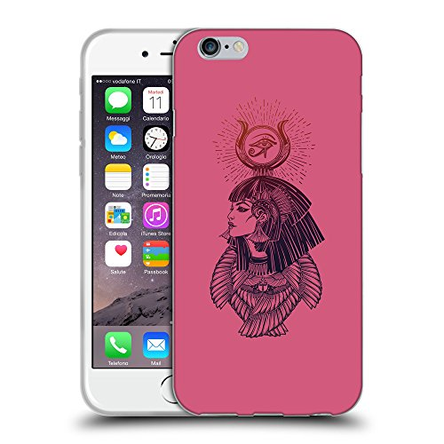 GoGoMobile Coque de Protection TPU Silicone Case pour // Q08070614 Déesse égyptienne 1 Rougir // Apple iPhone 7