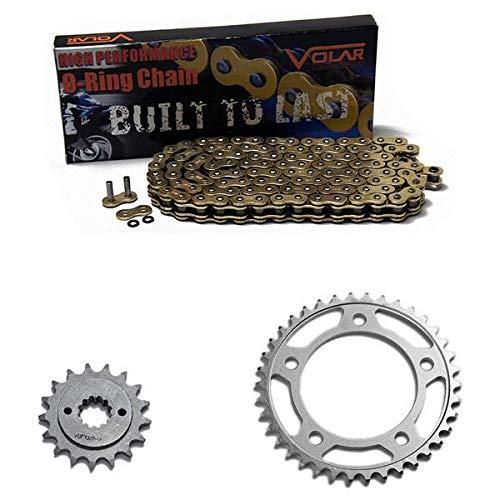 O-ring Sprocket Chain - 1998-2003 Honda Shadow ACE 750 VT750 C/CD/CD2 O-Ring Chain and Sprocket Kit Gold