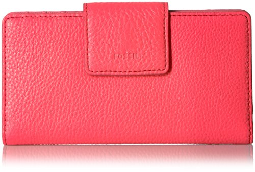 Fossil Emma Tab Wallet Rfid,Neon Coral,One Size