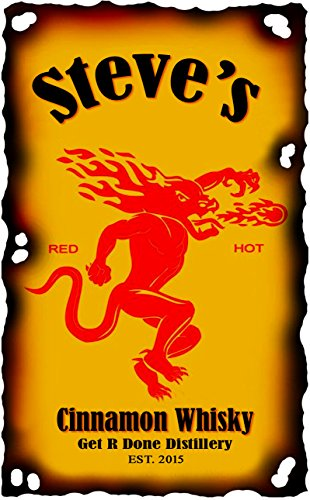 personalized fireball cinnamon whiskey design on high