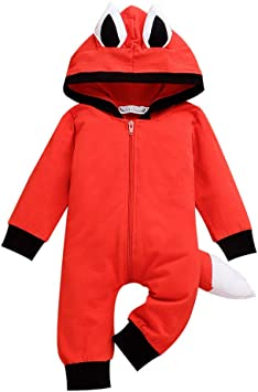 Newborn Baby Jumpsuit Outfit Coat Winter Infant Romper Toddler Clothing Bodysuit
