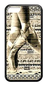Hoomin Retro Ballet Aztec Design Dancing iPhone 5C Cell Phone Cases Cover Popular Gifts(Laster Technology)