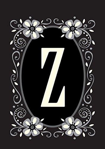 Toland Home Garden Classic Monogram Z 12.5 x 18 Inch Decorat