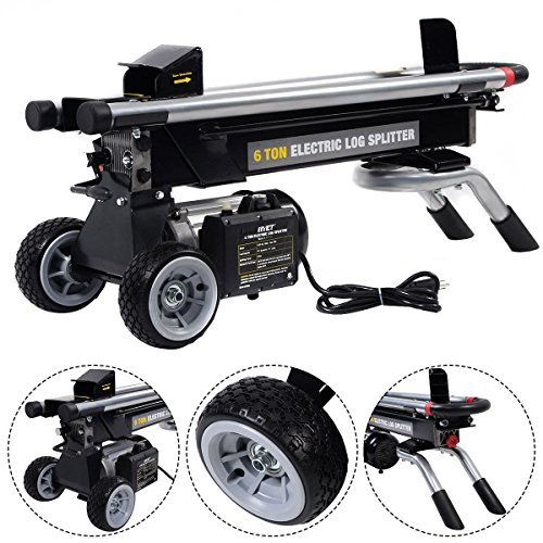 Aromzen Portable Electric Hydraulic Log Splitter Cutter