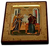 Annunciation - Visitation Icon with sheets of Gold (Lithography) (12 x 9.5)