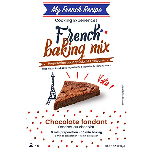 French Chocolate Cake Baking Mix (Fondant au Chocolat) - Gourmet Molten Lava chocolate cake - With real French chocolate inside - 5 min prep - My French Recipe
