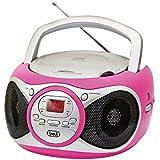 Trevi CD 512 Lettore CD Portatile con Radio e AUX-IN, Fucsia