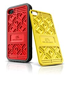 Musubo Sneaker Case  for iPhone 4/4S- Black with red & yellow