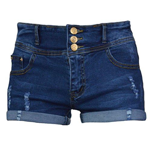 PHOENISING Women's Stylish Design High Waist Short Shorts Denim Hot Pants,Size 2-16 by PHOENISING