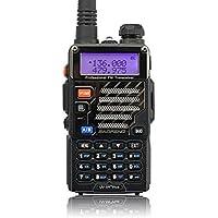 Baofeng UV-5R Plus Qualette Talkie-Walkie VHF/UHF 2 m/70 cm Radio (Noir)