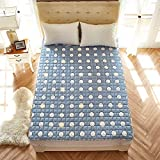 SL&CL Cotton Thin Mattress,Bed mats Non-Slip Mattress 1.8m Bed 2 Meters Double mat Summer Bed Bed Padded Washable Floor mat-K 180x200cm(71x79inch)