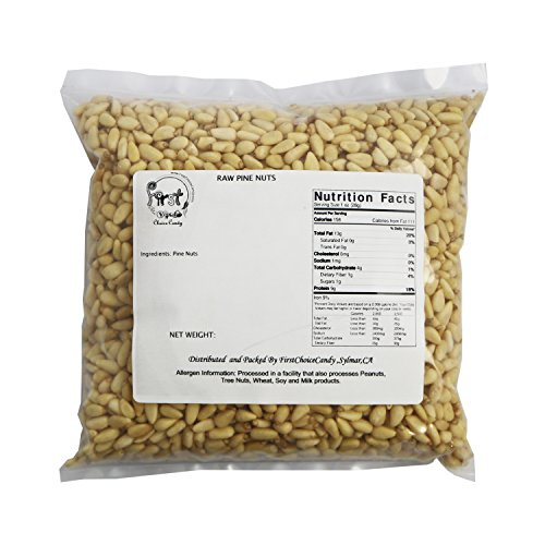 FirstChoiceCandy Raw Pine Nuts 2 Pound Bulk Bag