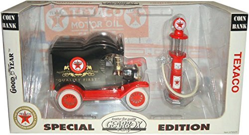 1912 Ford Model T Delivery Car Coin Bank and 1920s Wayne Gas -