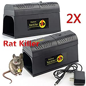 2 pcs Electronic Mouse Trap Victor Control Rat Killer Pest Electric Zapper Rodent Lot