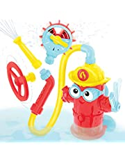 Yookidoo Baby Bath Toy - Ready Freddy Has Many Ways to Play with Three Different Spray Accessories - Action-Oriented Fire Hydrant Bath Toy for Children Ages 3+