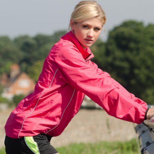Pink Jacket Proviz Windproof Women's Running Cycling xwwpqXPv