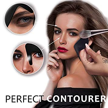 JUMOWA DIY Face Makeup Tool, Contour Curve Eyeshadow Stencils Eyeliner Card  Contourer Multi,Function Eyeliner Card Tool Shadow Guide Template Tool for