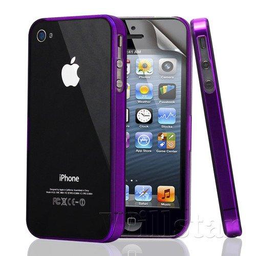 Viola antiurto Elegante Serie Case Cover Per Apple iPhone 44S