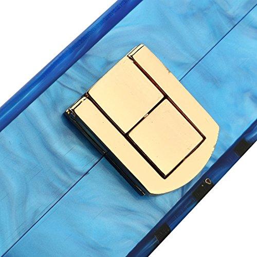 Evening Handbag Box Acrylic Clutch Stripes Shoulder Bag for Party (Black) by KNUS (Image #5)