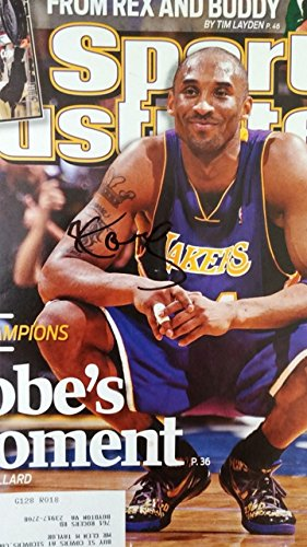 Framed Kobe Bryant Lakers Autographed Magazine Cover with Certificate of Authenticity
