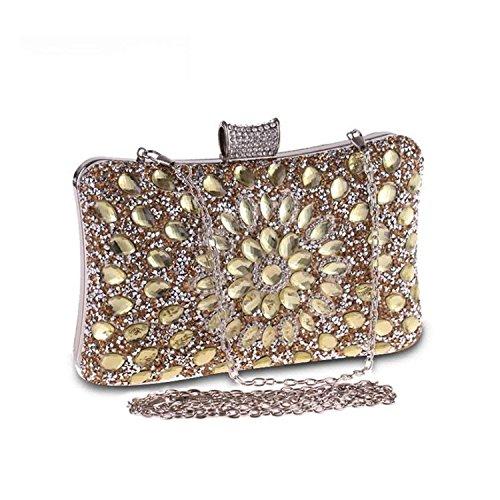 Handbags Clutches Diamonds Party ON Gold ZD850 Bags Clutch Ladies Purse Rising Wedding Women Rhinestones Bag Gold Evening Purses gZ4vYw7q